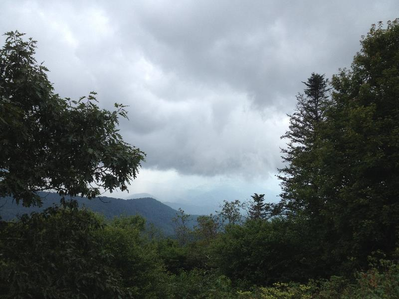 Rain on the Blue Ridge Parkway