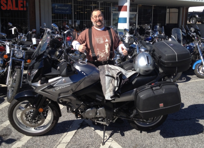 Jeff and his new Suzuki V Strom 650