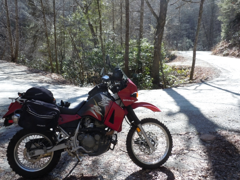 Kawasaki KLR650 out on an adventure!