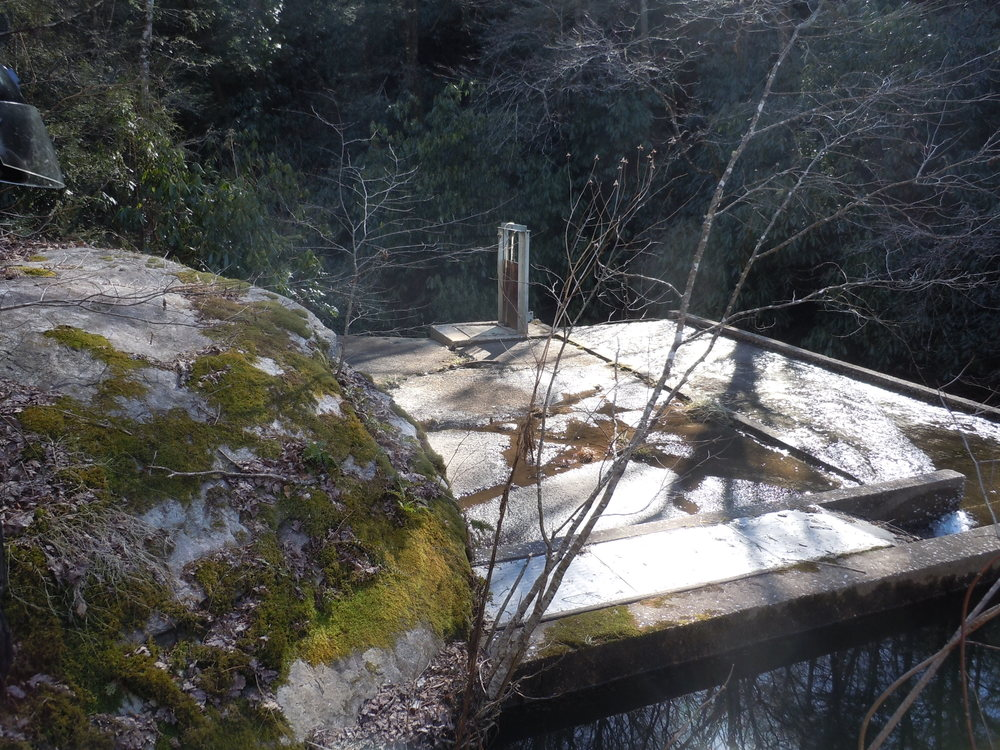An old mill race in the hills