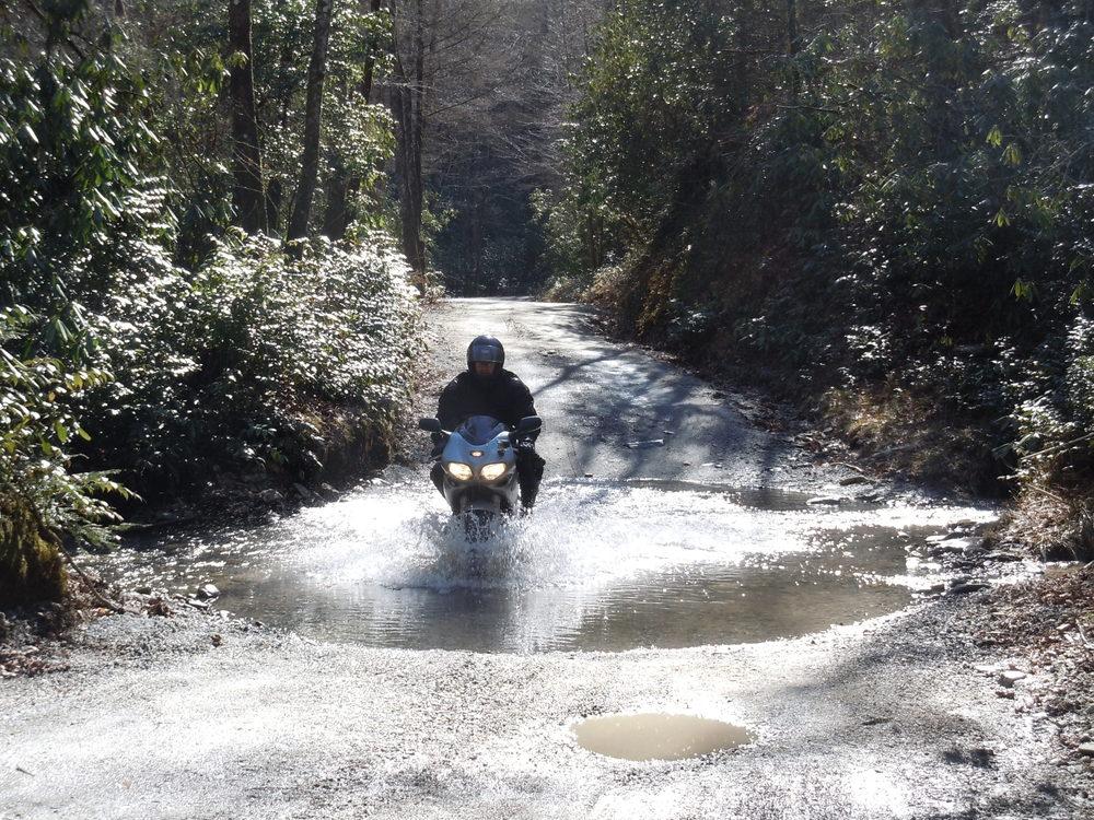 Suzuki SV650 Water Crossing