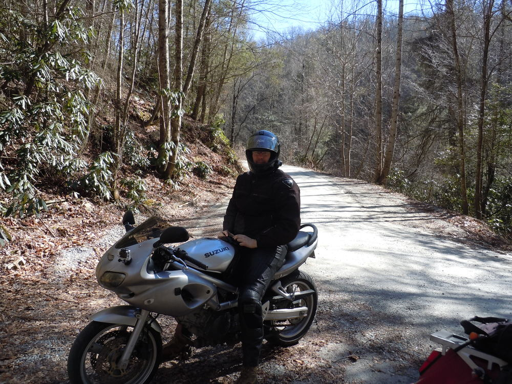 Andrew on his SV650