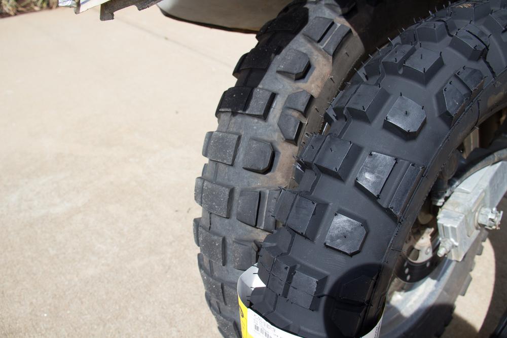 Michelin T63 Rear Comparison