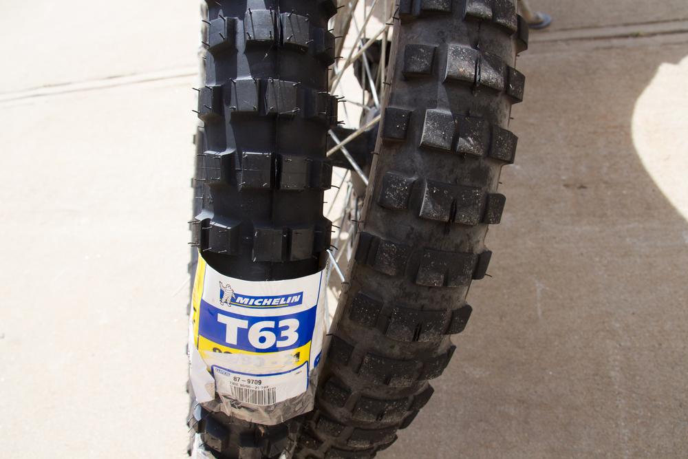 Michelin T63 Front Comaprison