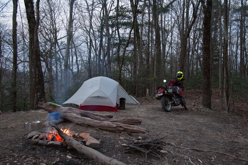 Motocamping in the Blue Ridge Mountains