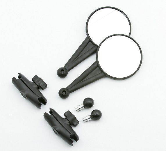 The Doubletake Mirror kit components