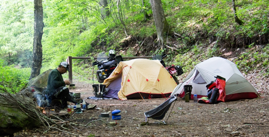 Motocamping with Mike