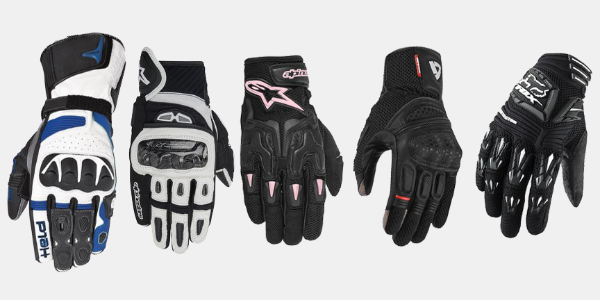 Many good motorcycle gloves to choose from.