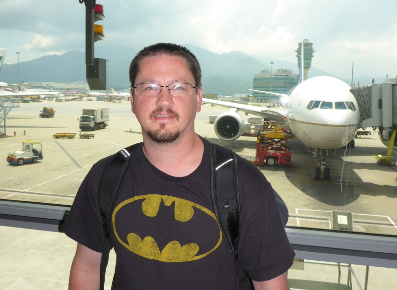 Just landed in Hong Kong