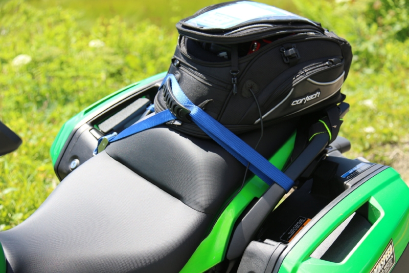 Cortech Tank Bag Rigged as Tail Bag