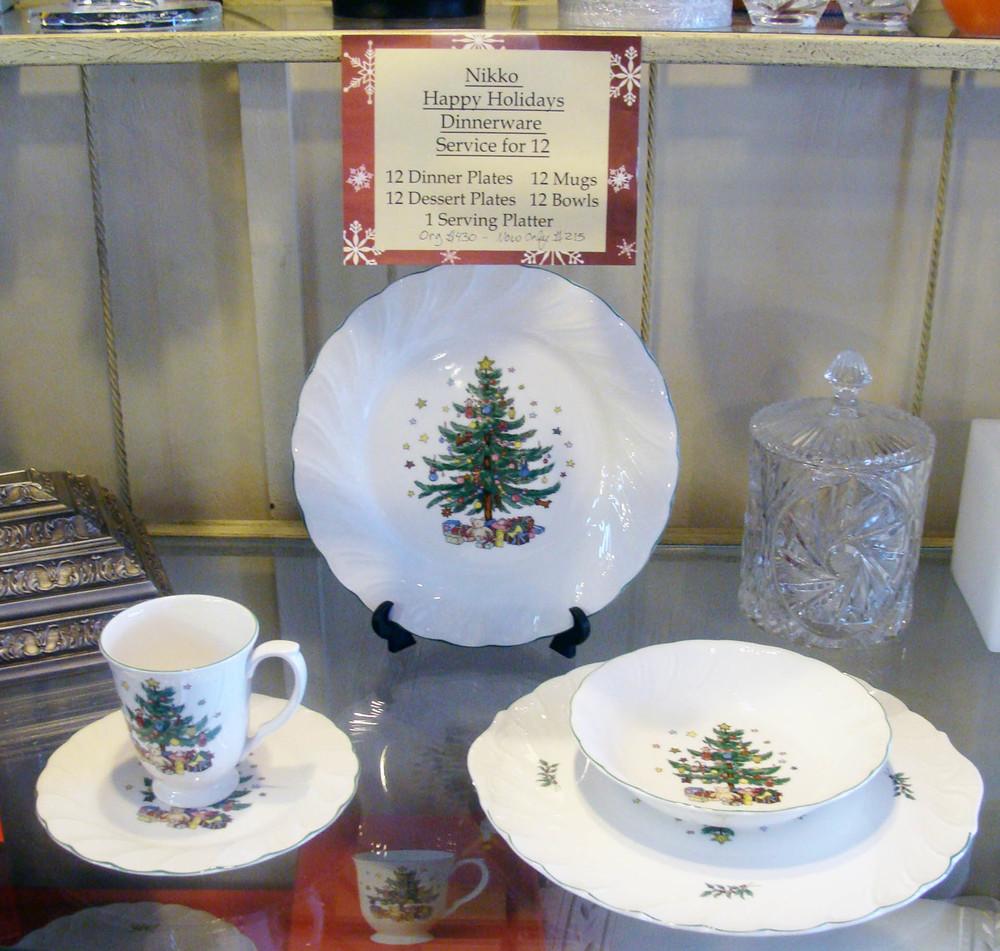 Happy Holidays Dinnerware — Julie\'s Walk-In Closet
