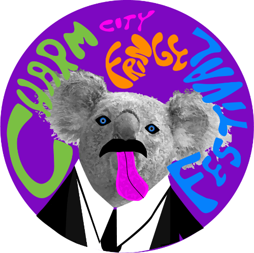 The 2015 Fringe Festival button, artwork by Andy Schoeb