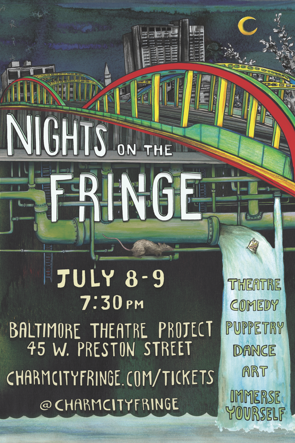 Artwork for Nights on the Fringe II  by Ambyr Hodges