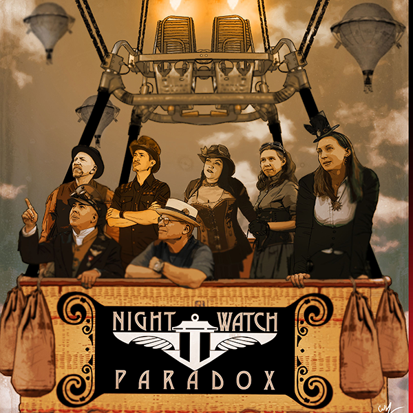 "Night Watch Paradox -  Magnificent Machines & Astonishing Tales                  An interactive rock opera about a steam-powered airship as it travels through time and space.          Normal   0           false   false   false     EN-US   JA   X-NONE                                                                                                                                                                                                                                                                                                                                                                                                                                                                                                                                                                                                                                                                                                                                                                                                                                                                            /* Style Definitions */  table.MsoNormalTable 	{mso-style-name:""Table Normal""; 	mso-tstyle-rowband-size:0; 	mso-tstyle-colband-size:0; 	mso-style-noshow:yes; 	mso-style-priority:99; 	mso-style-parent:""""; 	mso-padding-alt:0in 5.4pt 0in 5.4pt; 	mso-para-margin:0in; 	mso-para-margin-bottom:.0001pt; 	mso-pagination:widow-orphan; 	font-size:12.0pt; 	font-family:""Cambria"",serif; 	mso-ascii-font-family:Cambria; 	mso-ascii-theme-font:minor-latin; 	mso-hansi-font-family:Cambria; 	mso-hansi-theme-font:minor-latin;}"