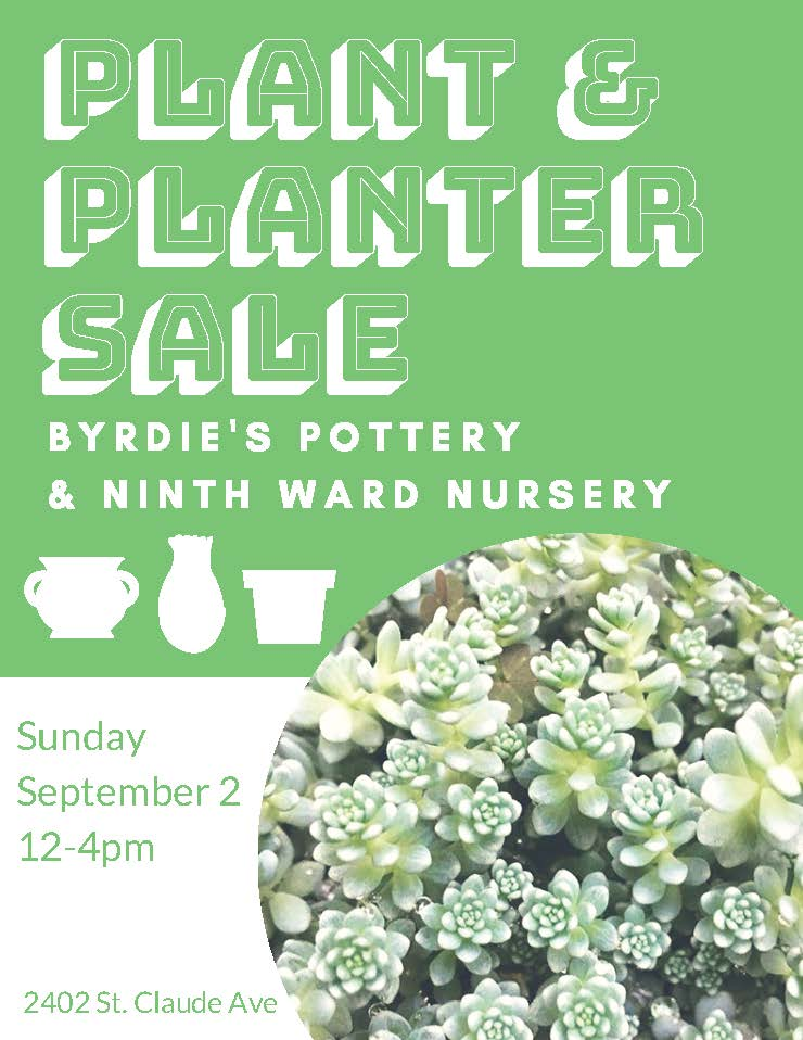 ninth ward nursery plant and planter sale