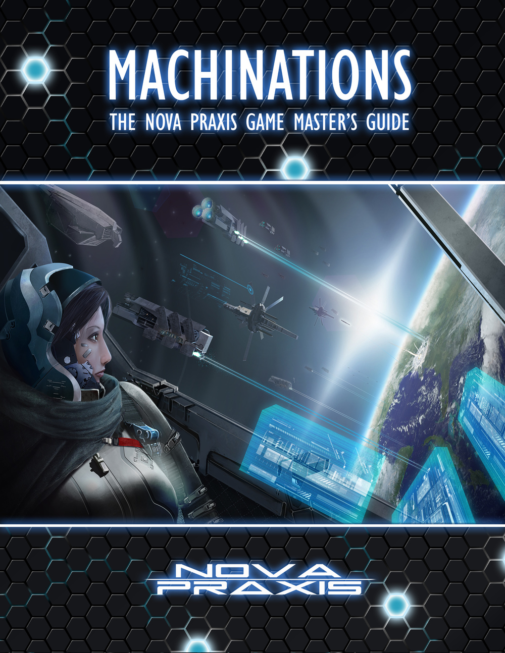 Early version of the cover art for Machinations.