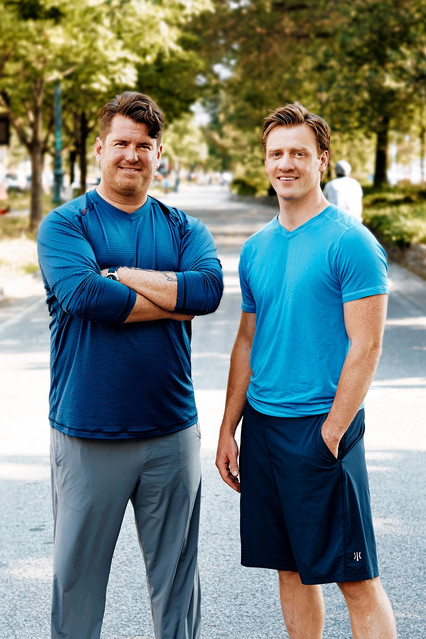 Rhone Apparel founders Kyle McClure, left, and Nate Checketts   Weston Wells for The Wall Street Journal