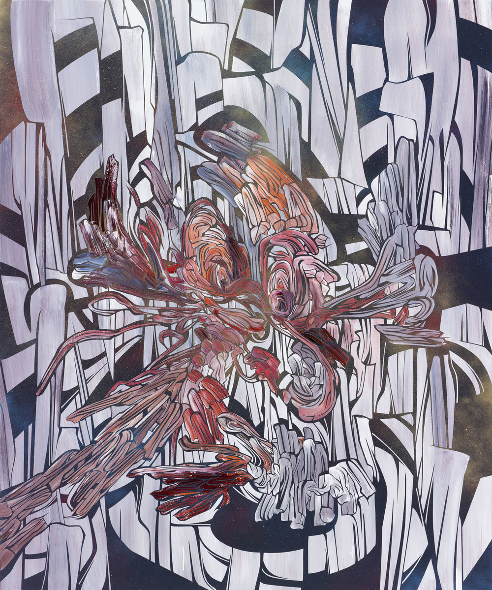 Just Another, 2012    Acrylic and latex on wood panel     48 x 40 inches (121.9 x 101.6 cm)         
