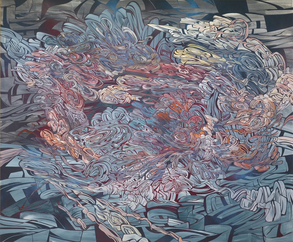 It's Better On the Moon, 2011  ​  Acrylic and latex on wood panel  								 	 							 60 x 72 inches (152.4 x 182.9 cm)   								 							   				 	 			 ​