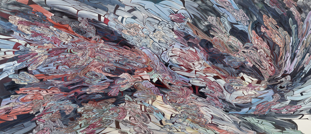 The Way It Goes, 2011  ​  Acrylic and latex on 2 wood panels  								 	 							 72 x 168 inches (182.9 x 426.7 cm)   								 							   				 	 			 ​