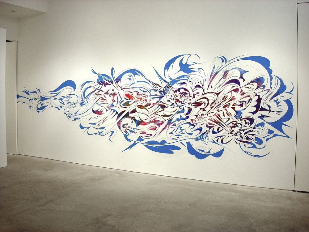 Vinyl Wall Drawing ​,  2005    Barbara Davis Gallery, Houston, Texas