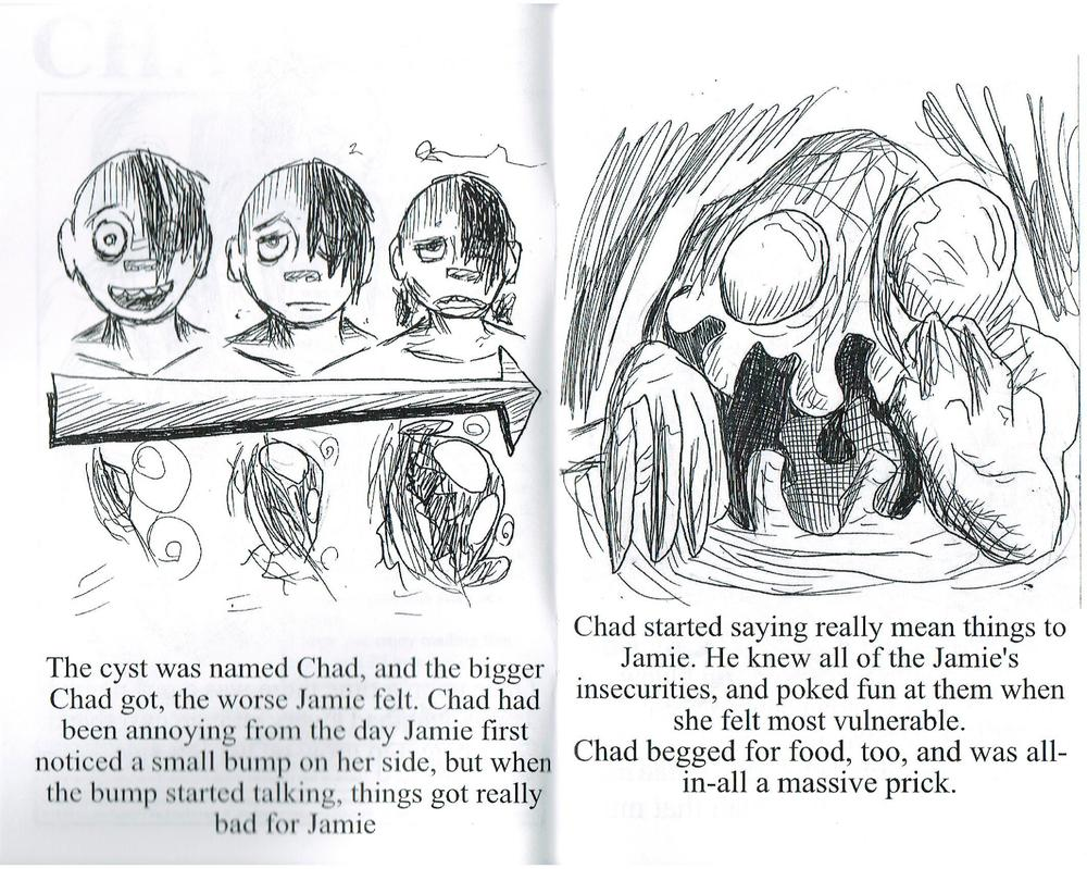 Interior pages from CHAD by Andrew Schons
