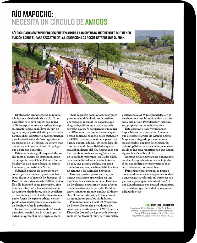 Río Mapocho: Necesito un círculo de amigos    Proyecto publicado:    Revista Foco