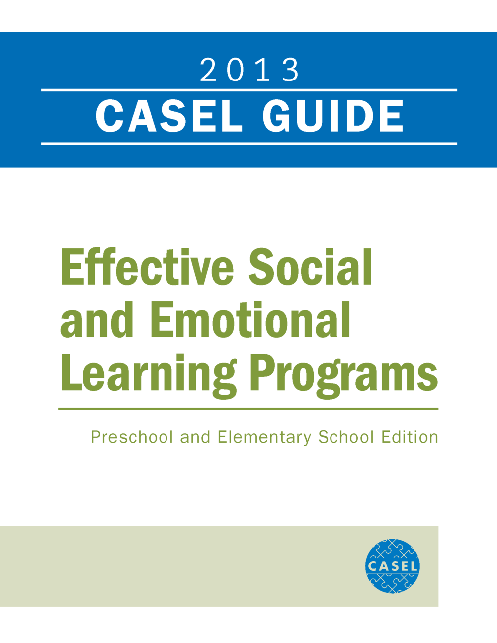 CASEL Guide Online Effective Social and Emotional Learning Programs