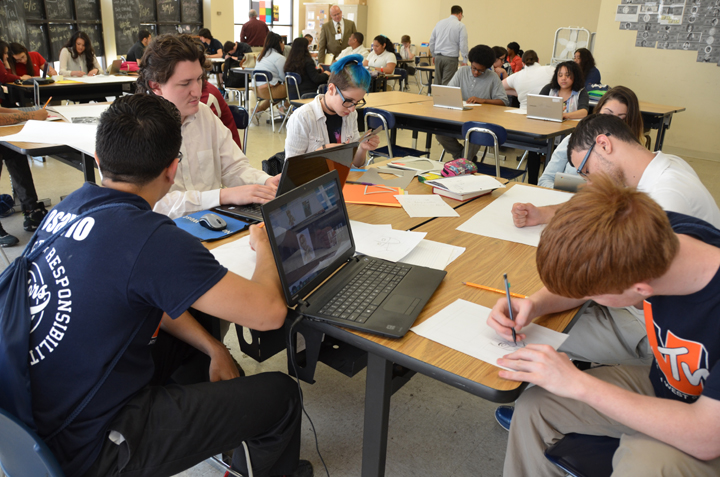 cleveland high school students design public service announcements as part of project-based learning.