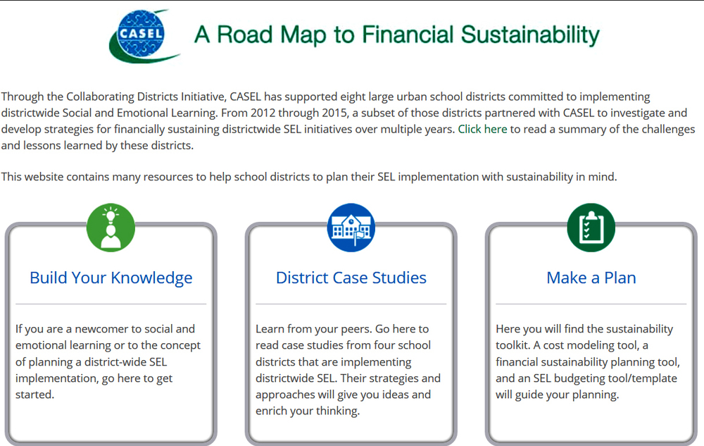 the evening included a preview of casel's new website (Not yet public) focused on the financial sustainability of sel.