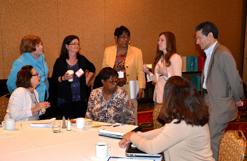among the meeting's most important benefits: opportunities to share information and ideas with other cdi participants.