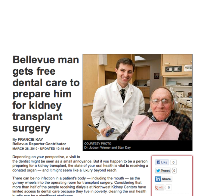 Man Gets Free Dental Care - Bellevue Reporter