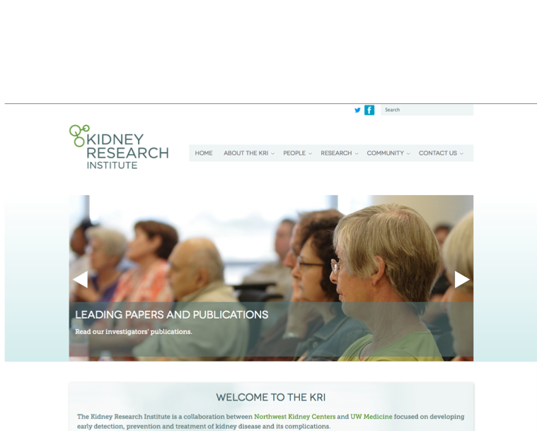 Website Updates - Kidney Research Institute