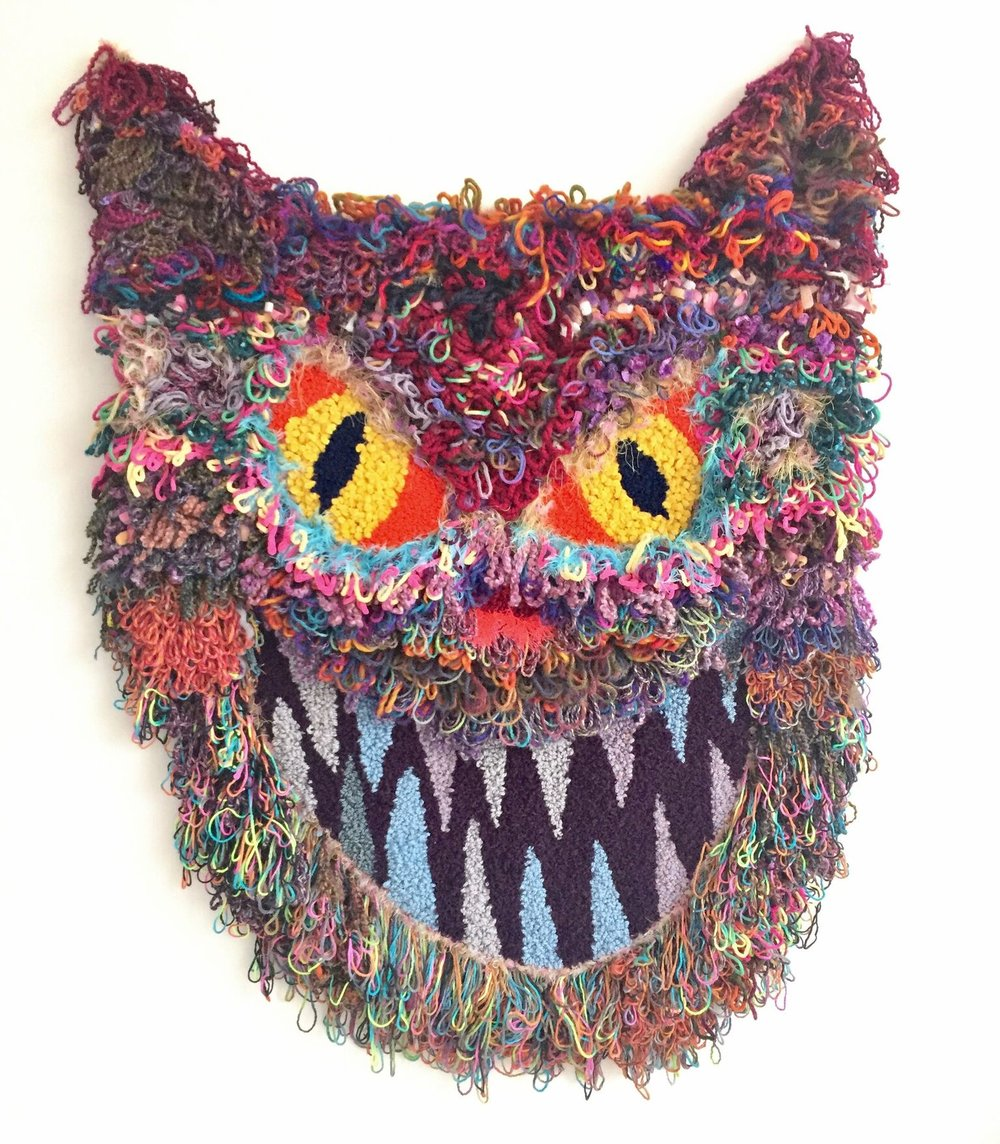 "Mouser   Wool, Acrylic, Polyester, Nylon, Burlap  55"" X 41""  2017"