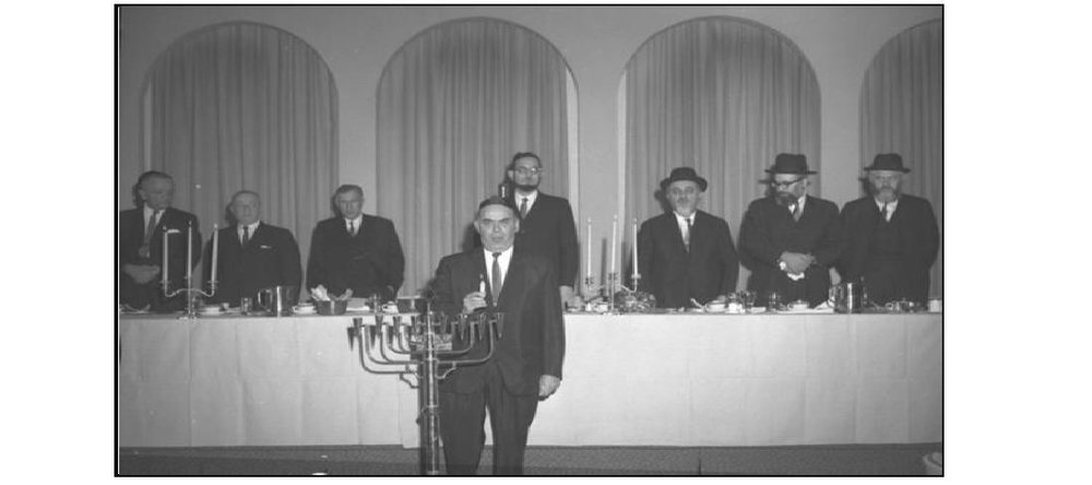 Murray House: Beth Jacob High School Channukah celebration 1966