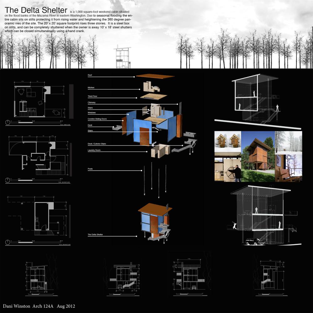 Delta Shelter, Olson Kundig Architects, Dani Winston, Arch 124A, UC Berkeley