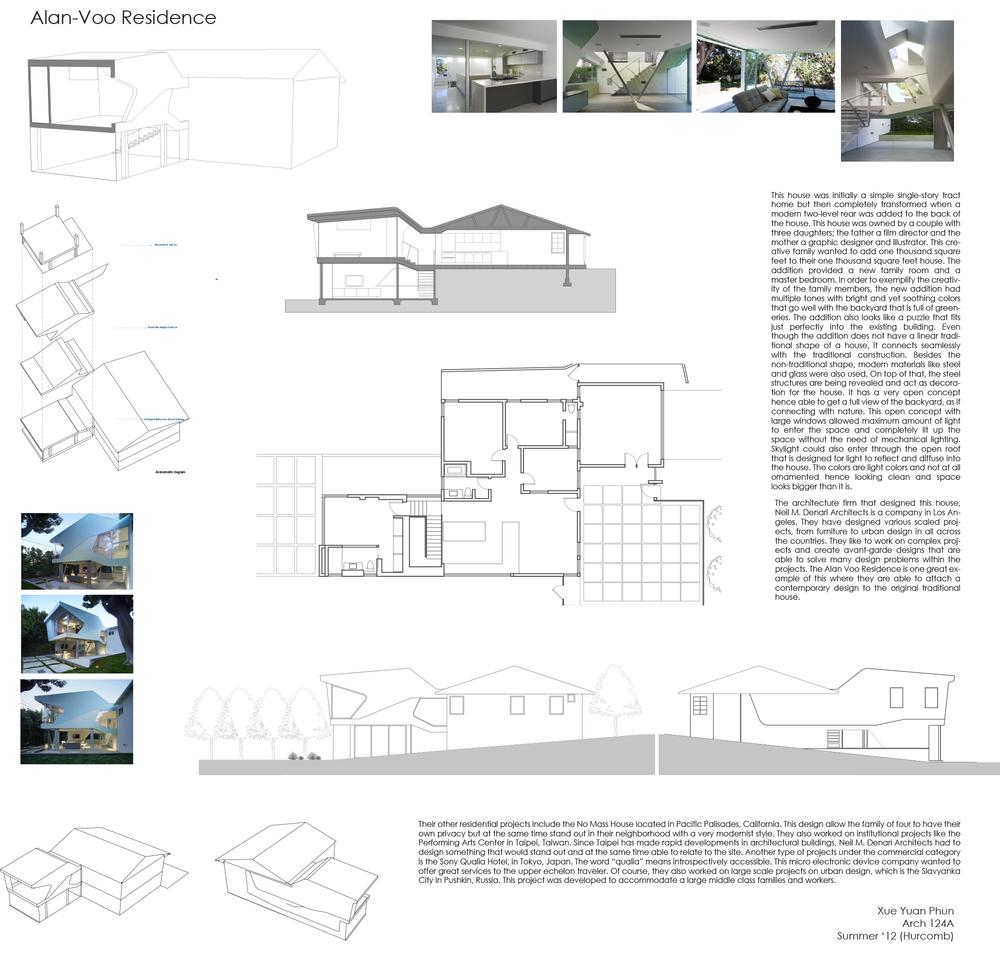 Alan-Voo Residence, Neil M. Denari Architects, Xueyuan Phun, Arch 124A, UC Berkeley