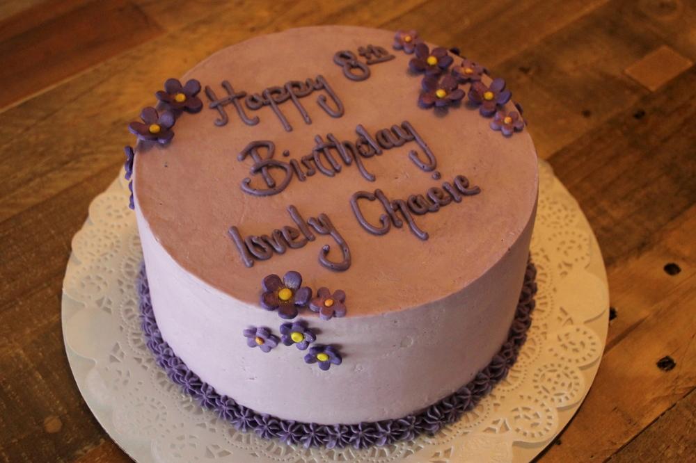 Purple Birthday Cake Lafields Cakes Catering