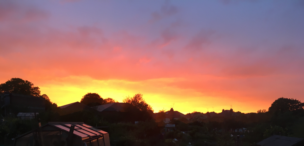 Midsummer Sunset in Chapel Allerton, Leeds (photo: Matthew Noah Smith)