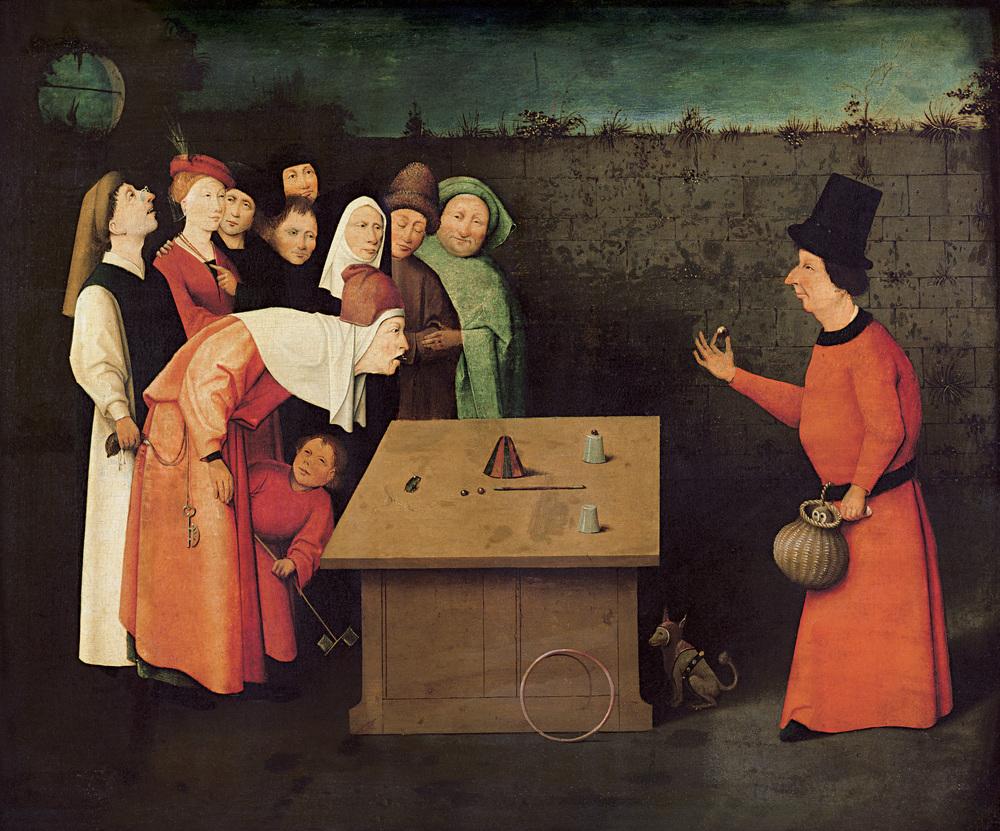 """Hiernymous Bosch, """"The Conjurer"""" (1502)"""
