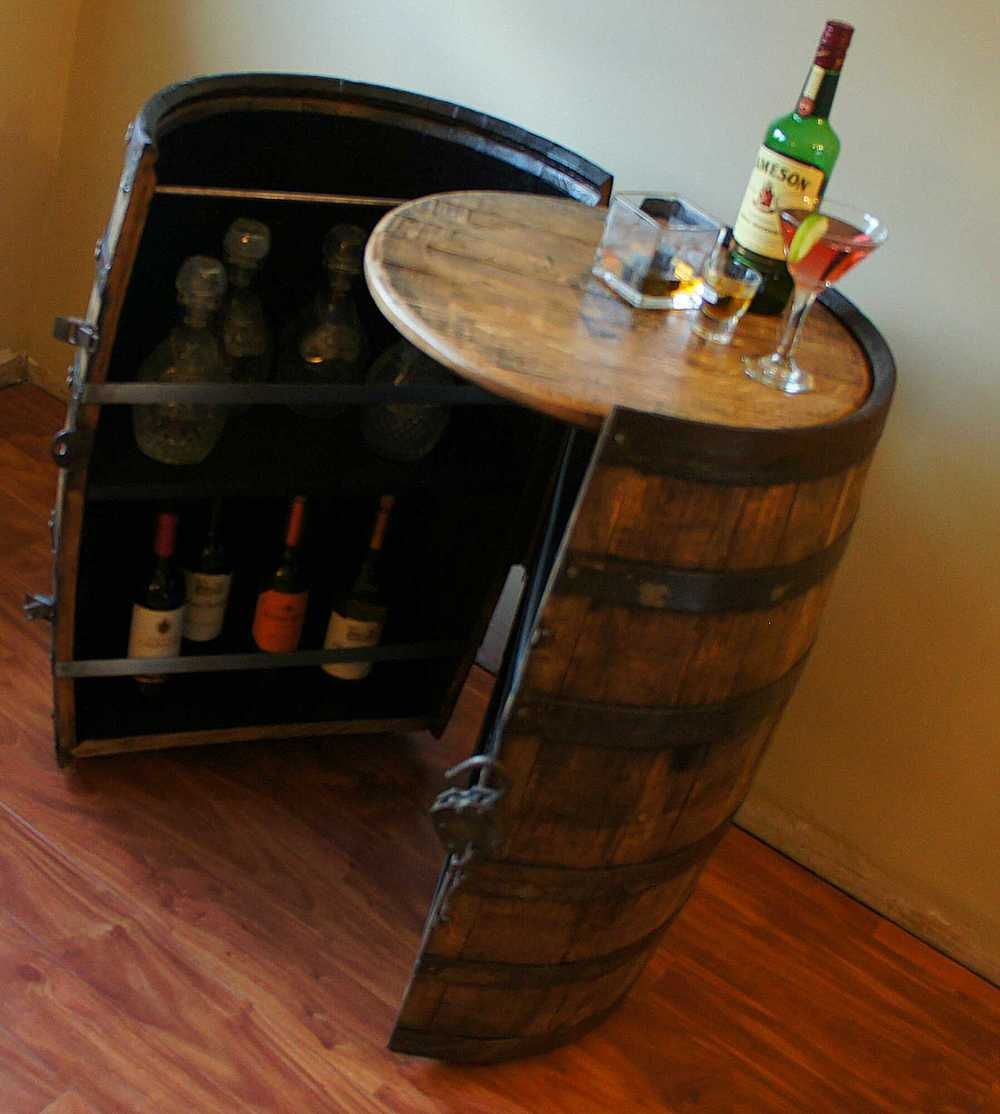 Cooperage Cabinets | Custom Wine and Liquor Barrel Cabinets