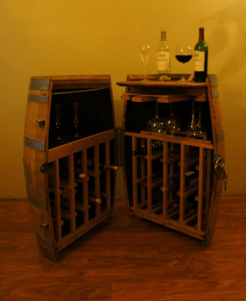 Cooperage Cabinets Custom Wine And Liquor Barrel Cabinets