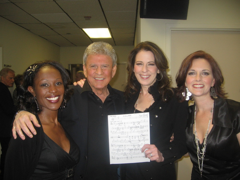 Backstage with Bobby Rydell and fellow backup singers, Tiffany Nesbit Jones and Kristina Pruitt