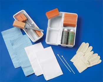 The traditional surgical prep kit.