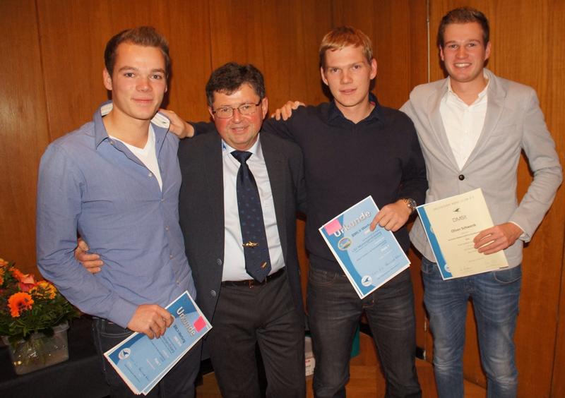 v.l.n.r. Heiko, Walter Eisele, Joachim und Oliver