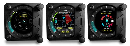 Flarmradaranzeige          TP-Navigation mit Luftraum    Thermikassistent