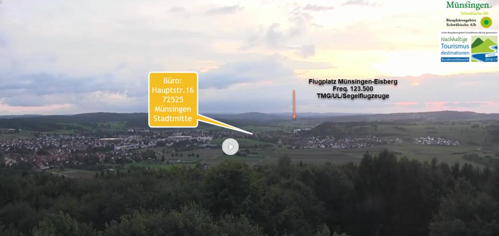 Blick in Richtung Westen - Hörnle im Albgut auf Münsingen