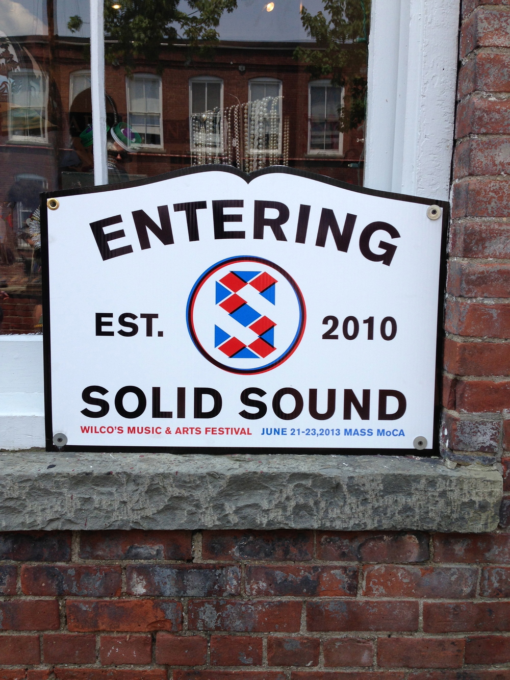 "Based on Instagram posts the ""Entering Solid Sound"" poster was very popular. The design based on the iconic Massachusetts town line sign, indicating the name of the town, the date of its establishment, and the seal of the state."