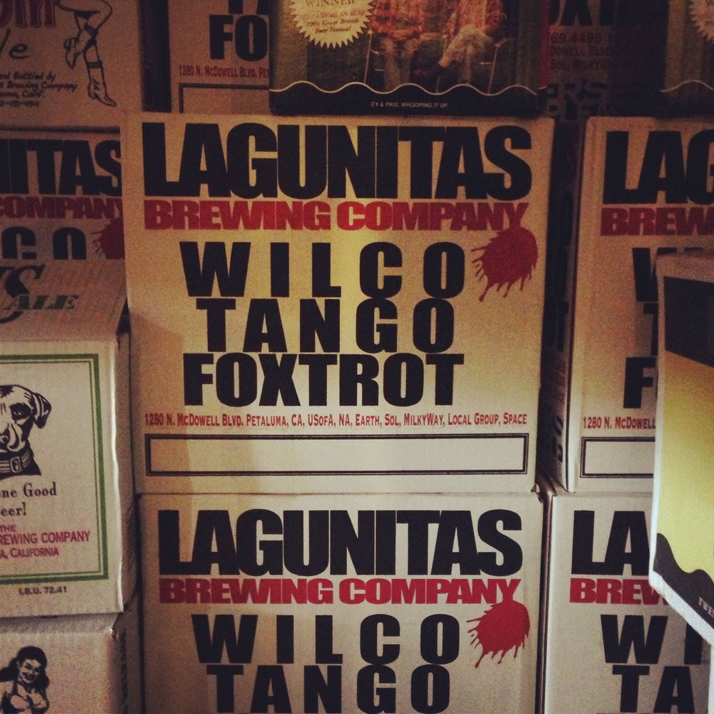 "In ode to Wilco's ""Yankee Hotel Foxtrot"" Launitas brewing from Petaluma makes sure plenty of ""Wilco Tango Foxtrot"" is available. #Lagunitasbrewing"