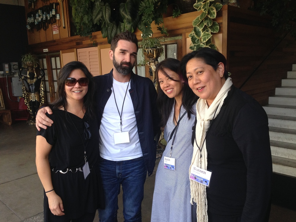 A Royal Flush of design leaders. Cinthia Wen of Noon SF, Christopher Simmons of MINE, Karin Fong of Imaginary Forces, Noreen Morioka, AIGA LA President and Adams/Morioka.